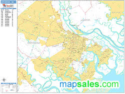 ga zip code map zip code wall map basic style by marketmaps