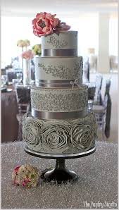 wedding cake roses gray pink rosette wedding cake design by the pastry