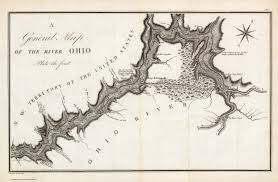 Ohio Rivers Map by A General Map Of The River Ohio Plate The First David Rumsey