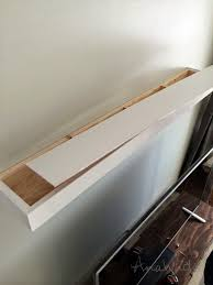 Free Wooden Shelf Plans by Ana White Modern Floating Shelf Diy Projects