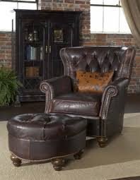 leather tufted library chair luxury fine home furnishings and high