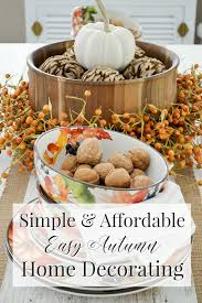 fall table decor autumn home decorating simple fall table