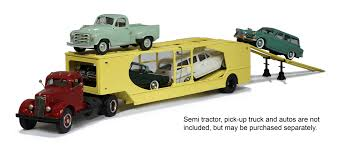 car carrier truck 1955 w u0026k 4 vehicle car carrier by brooklin