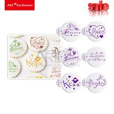 online get cheap cake decorating stencil cupcake aliexpress com