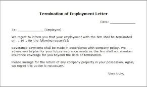 how to write a letter of termination of employment termination