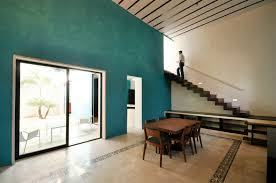 decayed home in historic merida reborn as the turquoise tinted