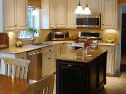 Island Ideas For Small Kitchen Small Kitchen With Island Design Built In Wine Rack Wood Finished