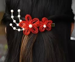 how to make flower bridal hair accessories with seed