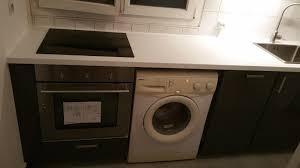 lave linge dans cuisine installateur de cuisine ikea et autres marques