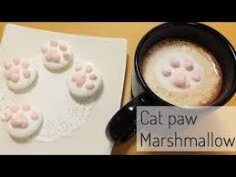 馗rire une recette de cuisine 고양이발바닥 마쉬멜로우 猫マシュマロの作り方 how to a cat paw
