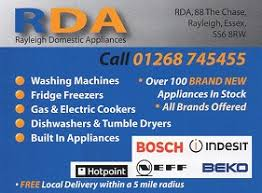 Appliance Business Cards Rda Rayleigh Domestic Appliances The Local Business Guide Card