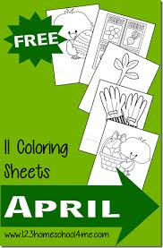 free spring coloring sheets