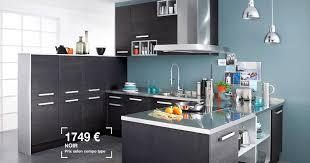 avis sur cuisine lapeyre cuisine équipée lapeyre platine photo 9 20 couleurs noir