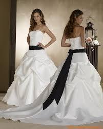 robe de mari e noir et blanc robe de mariée pas cher satin blanche ruban mariage