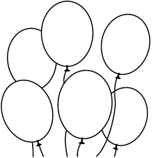 full page balloon color or template within balloon coloring pages