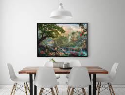 home interiors kinkade prints aliexpress buy h1213 kinkade the jungle book hd