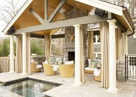 diy outdoor patio curtains inspiration for contemporary patio with