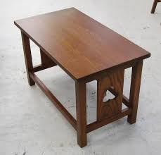 arts and crafts table for new reproduction arts crafts movement oak dining table coffee table