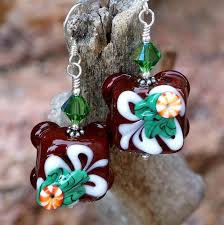 christmas earrings christmas chocolate candy earrings lwork petit fours jewelry