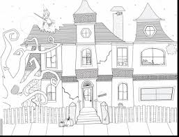 Halloween House Coloring Pages by Best Halloween Haunted Houses