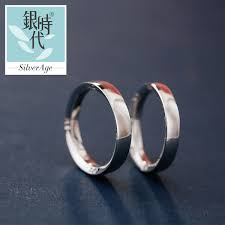 domed ring silver age couples rings numerals engraved wedding bands