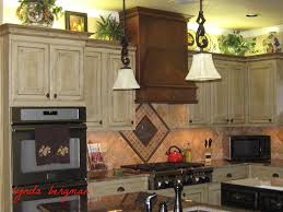 Cream Kitchen Cabinets With Glaze Racks Time To Decorate Your Kitchen Cabinet With Cool Pickled