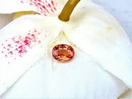 apricot color sapphire oval shape unique gemstone for engagement