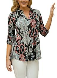 print blouses dokotoo casual split v neck cuffed sleeve floral print