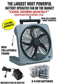 battery operated electric fan o2 cool large battery powered fan