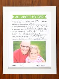 father u0027s day questionnaire diy gift kids can make for dad