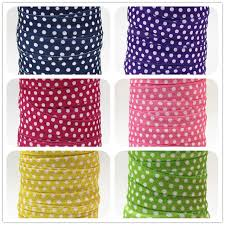 elastic ribbon wholesale q n ribbon wholesale oem 5 8inch 16mm white dots folded elastic