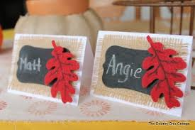 burlap and chalkboard thanksgiving place cards thanksgiving place