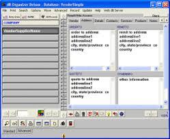 database template database software template vendor supplier manager 1