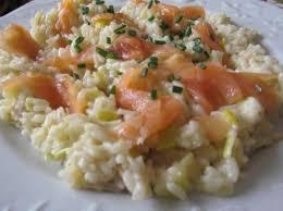 cuisiner le saumon risotto poireau et saumon fumé par legoupil ma cuisine tout