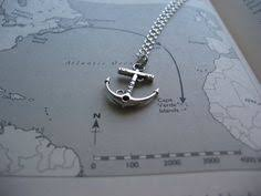 Items Similar To Love Anchors - necklace antique large anchor necklace alloy chain by marryterry