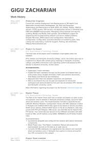 Resume For Applying Job by Production Engineer Resume Samples Visualcv Resume Samples Database