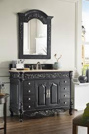 48 inch antique single sink bathroom vanity empire black finish