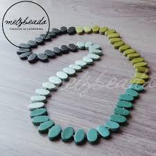 long wood bead necklace images Zoda long green wooden beads necklace shop online australia jpeg