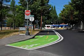 Bike Map Portland by File Bike Lane Markings On Wheeler Ave South Of Rose Qtr Tc