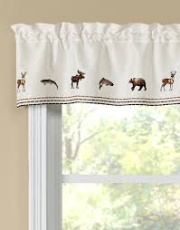 lodge embroidered tier pair swag pair u0026 insert valance