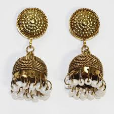 jhumka earrings online shopping shopieo gold plated traditional designer jhumka earrings for