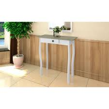 cottage style table white and grayish green sales online tomtop com