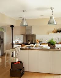futuristic kitchen design with vintage glass kitchen lighting and