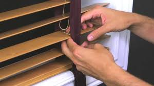 Shortening Faux Wood Blinds How To Replace Cloth Tape In A Horizontal Wood Blind Youtube