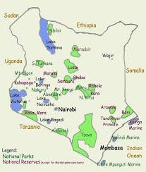 geographical map of kenya kenya tourist map kenya mappery