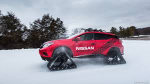 nissan murano red 2016 2016 nissan murano winter warrior concept on tracks in snow hd