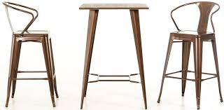 bar height office table incredible bar height table inside darius modern copper design 13