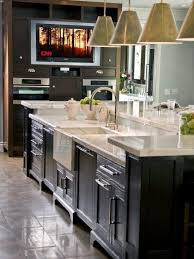kitchen island with sink and dishwasher and seating 8310 brown agate island countertop caesarstone in the kitchen