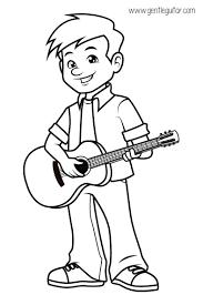 coloring boy playing guitar coloring prepares children