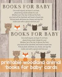 instead of a card bring a book printable books for baby cards woodland animals theme print it baby